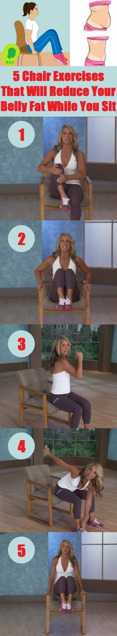 Belly Fat Workout - 5 Chair Exercises That Will Reduce Your Belly Fat While You Sit Do This One Unusual Trick Before Work To Melt Away 15 Pounds of Belly Fat Fitness Workouts, Sport Fitness, Fitness Diet, Yoga Fitness, At Home Workouts, Health Fitness, Sixpack Workout, Workout Abs, Workout Bauch