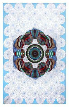 Amazon.com - Sunshine Joy® Love Lotus Sky Geometric Design Tapestry - 60x90 Inches - Beach Sheet - Hanging Wall Art - Sunshine Joy