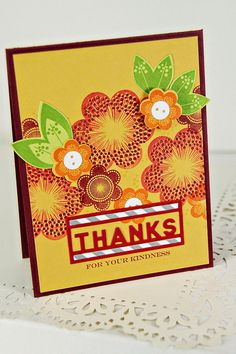 Thanks For Your Kindness Card by Erin Lincoln for Papertrey Ink (June 2014)