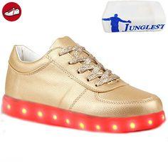[Present:kleines Handtuch]Gold EU 41, LED Sneaker weise Sportschuhe Turnschuhe L