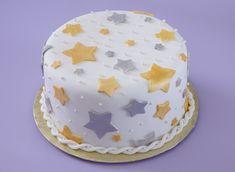 Metallic star cake