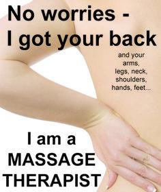 I got your back - Massage. www.MobieleMassage.com