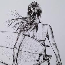 Image result for surfer drawing