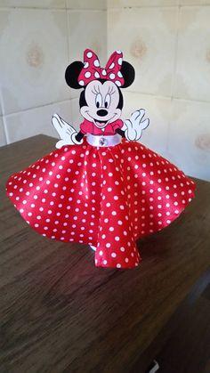Tubete Vestido Minnie Mickey E Minnie Mouse, Mickey Party, Mickey Mouse Clubhouse, Minnie Mouse Birthday Decorations, Minnie Birthday, 1st Birthday Parties, Deco Disney, Disney Crafts, Mouse Parties