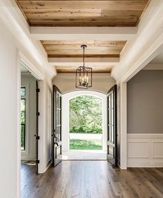 #Classy entrance with wood accents