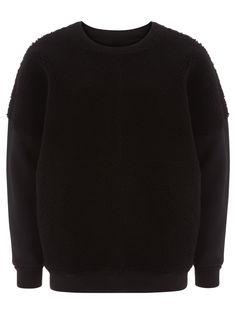 Black Castorpe Shearling Sweatshirt #Muubaa #AW15