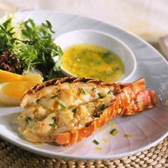 Lobster Tails with Chive Butter Is there anything lovelier than a lobster tail cradled in its coral-color shell and served with melted butter? Here's proof that the best things in life are the simplest.