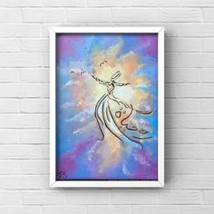 Paintings For Sale, Oil Paintings, Original Paintings, Ramazan Mubarak, Whirling Dervish, Islamic Paintings, Arabic Calligraphy Art, Islamic Wall Art, Turkish Art