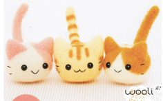 Kitten Triplets Needle Felting Kit by WooliMochi on Etsy, $17.00