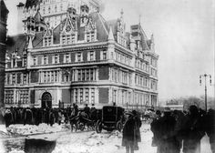 This magnificent home was demolished in 1927 and today the site is occupied by the Bergdorf Goodman department store. The only remnant of the mansion are its magnificent gates, which today provide the entrance to Central Park's Conservatory Gardens at 104th and Fifth.