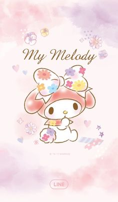 "My Melody ""Line Wallpaper"""