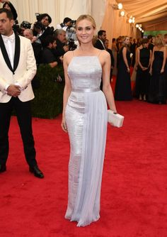 Best Dressed...New York City and the Met Gala 2014 - Pretty Planery Diane Kruger in a Hugo Boss Dress (photo:gettyimages) www.prettyplanery.com