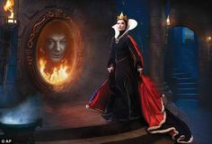 Annie Leibovitz' Disney photoshoot with celebrities posing as Disney characters.     ***Olivia Wilde as the Evil Queen. Alec Baldwin as The mirror***