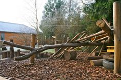 Den-building frames for natural playgrounds   Playscapes