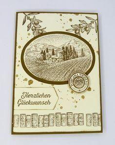 Stempelitis.de, Vintage, Tuscan vineyard, Karte, Glückwunsch, stampinup