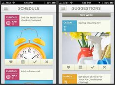 Automate Home Maintenance... This free app not only gives you tips on cleaning, organizing, and improving your home, but also schedules important maintenance tasks so you don't forget them.