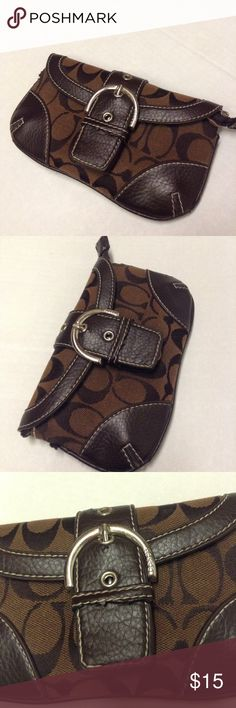 Coach brown wallet ( read description ) This bag is super cute but has  flaws see c5226c3d6431d