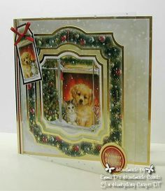 Hunkydory Crafts Santa Paws - DT cards I made Christmas Cards 2017, Xmas Cards, Christmas Time, Greeting Cards, Christmas Ideas, Card Tags, I Card, Hunkydory Crafts, Hunky Dory
