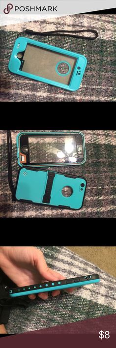 iPhone 6/6s protective case -used to be waterproof but the plug covers broke -had wristlet attatched  -still good condition, good for protection Other
