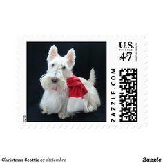 Christmas Scottie Stamp