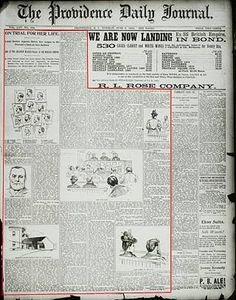 The Providence Journal provided extensive coverage of the Lizzie Border trial in 1893. For the first time in more than a century, that coverage is being published online.