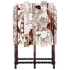 Dokter and Misses, Cry Baby, Hand-Painted Steel and African Walnut Cabinet For Sale at 1stDibs Walnut Cabinets, Salon Art, Bronze Mirror, Galleries In London, Sideboard Buffet, Best Interior Design, Cry Baby, Hand Painted, Painted Tiles