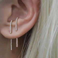 Steve Madden Paper Clip Design Silver Tone Dangle Earrings For Women (White) – Fine Jewelry & Collectibles Ear Jewelry, Jewelry Gifts, Jewelry Accessories, Fine Jewelry, Jewelry Design, Jewellery, Girls Earrings, Women's Earrings, Silver Earrings