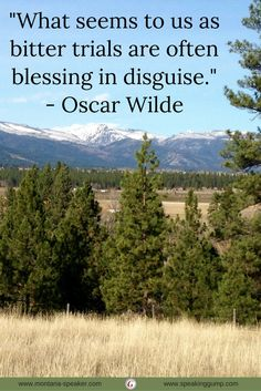 """""""What seems to us as bitter trials are often blessings in disguise.""""  -Oscar Wilde   #MDI"""