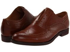 Florsheim No String Wing. Laceless slip-on Oxfords.perfect for the fall! Brown Brogues, Oxfords, Oxford Shoes, Wings, Dress Shoes, Lace Up, Slip On, Belt, Leather