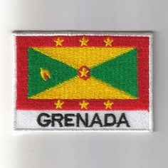 Grenada Flag Embroidered Patch Country  Iron-On Emblem