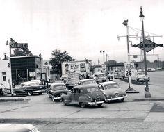 Gasoline 26 cents a gallon.  1953.  Detroit.
