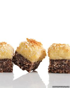 Chocolate-Coconut Cheesecake Squares - Martha Stewart Recipes