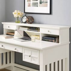 Product Image for Crosley Adler Hutch in White 1 out of 5