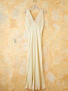 Vintage Silk Slip Dress