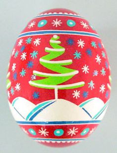 Pysanky Egg Christmas | Christmas Egg Ornament-Ukrainian Gift Shop