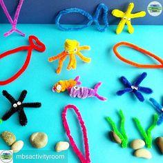 Underwater pipe cleaner creatures Creatures, Kids Rugs, Pipe Cleaners, Underwater, Ocean, Instagram, Home Decor, Decoration Home, Kid Friendly Rugs