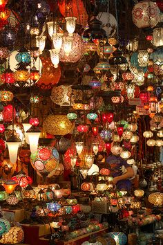 The lights at the front of the car // This is amazing! A Turkey Bazaar...