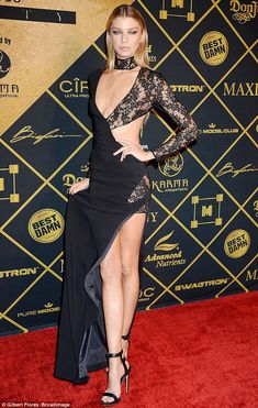 Leggy blonde! Stella Maxwellshowcased her endless stems in a racy black gown at the2016 Maxim Hot 100 Party in Hollywood on…