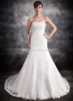 Cheap Discount Lace Up Sheath Wedding Dress Sweetheart Floor Length Online with $126.39/Piece | DHgate