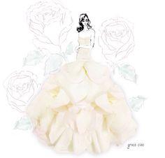 fashion illustration made of flower petals by Grace Ciao Grace Ciao, Flower Petals, Flower Art, Flower Girls, Flower Fairies, Floral Fashion, Fashion Art, Paper Fashion, Fashion Design