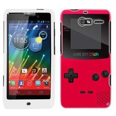 Motorola Droid Razr M Retro Red GameBoy Phone Case Cover $8.90