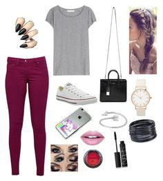 """""""Hi"""" by paola-3154tovar ❤ liked on Polyvore featuring Great Plains, Acne Studios, Converse, Yves Saint Laurent, Midsummer Star, ABS by Allen Schwartz, Fiebiger, NARS Cosmetics and NYX"""