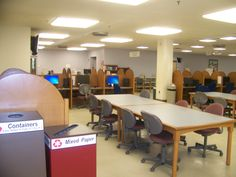 Looking at the Reference Desk from the far hallway