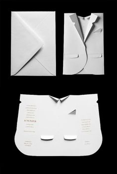 """ For the celebration of Acne Paper's 5th issue — the elegant issue — Daniel Carlsten constructed an invite reflecting the dress code of the event. """