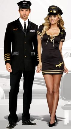 Flying high in seductive style. This suave suit style Pilot Costume is a classic sexy look. The four piece set includes a detailed suit jacket with dazzling gold detailing, an Red Hair Halloween Costumes, Couple Halloween Costumes For Adults, Halloween Dress, Cool Costumes, Adult Costumes, Costume Ideas, Adult Halloween, Halloween 2020, Girly