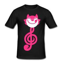 Eine Katze-förmigen Violinschlüssel oder ein Violinschlüssel-förmigen Katze. Für Katzenliebhaber, Musiker, Musiker die Katzen mögen, Leute die Musik und Katzen mögen und Katzen die Musik mögen. #spreadshirt #deutschland #katze #muzik #tshirts      T-Shirts.