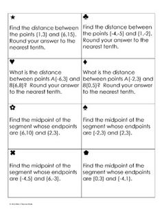Worksheets Activity Worksheet Distance And Midpoint Exploration Answers activities distance and ems on pinterest midpoint formula sum em activity