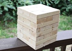 How to build your own giant jenga 48 pieces inches long Garden Yard Ideas, Backyard Projects, Outdoor Projects, Diy Projects, Outdoor Parties, Outdoor Fun, Outdoor Games, Outside Games, Giant Jenga