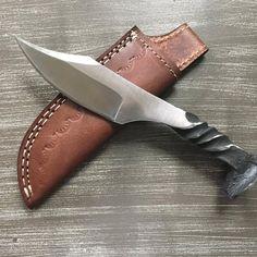 Hand Forged Railroad Spike Knife.