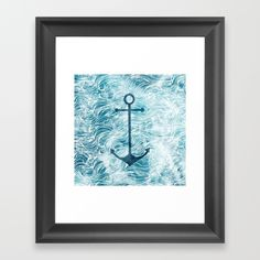 #anchor #ancora #sea #ocean #waves Choose from a variety of frame styles, colors and sizes to complement your favorite Society6 gallery, or fine art print - made ready to hang. Fine-crafted from solid woods, premium shatterproof acrylic protects the face of the art print, while an acid free dust cover on the back provides a custom finish. All framed art prints include wall hanging hardware.